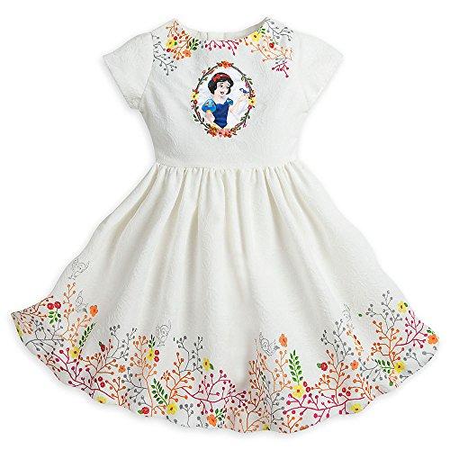 Disney Snow White Woven Dress For Girls Size 5 6 White