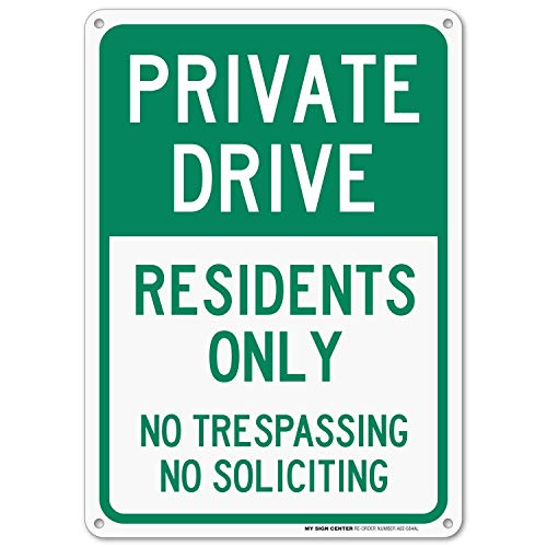 Private Drive Sign, No Trespassing Private Road ()