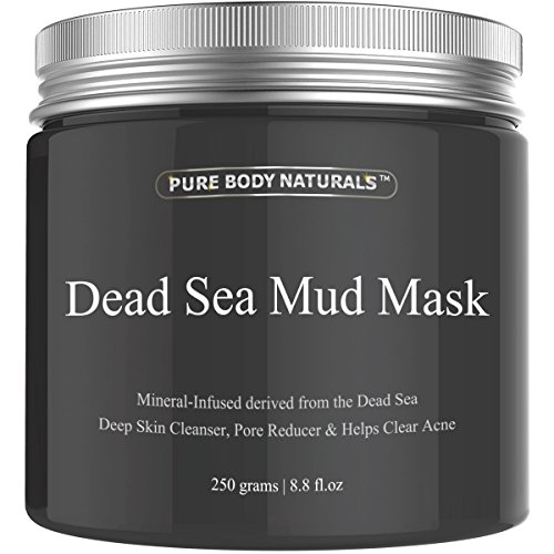 Pure Body Naturals Beauty Dead Sea Mud Mask for Facial Treatment, 250g / 8.8 fl.oz