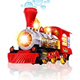 steam engine toys - CifToys Bubble Blowing Toy Train - Battery Powered Steam Bubbles Locomotive Engine Car- Colorful Lights & Fun Sounds - Constant Motion & Automatic Change of Direction – 3 and Up