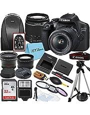 Canon EOS 2000D / Rebel T7 DSLR Camera with EF-S 18-55mm Zoom Lens + SanDisk 32GB Memory Card + Tripod + Case + Wideangle Lenses + ZeeTech Accessory Bundle (20pc Bundle)
