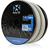 NVX 0 Gauge: 50 ft Frosted White Power/Ground OFC Wire [XW0WH50]