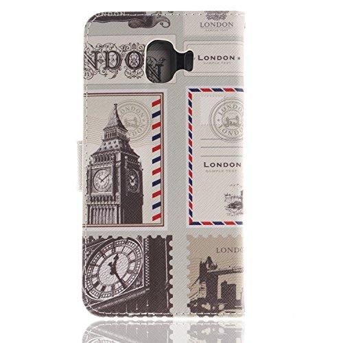Pour Portefeuille Bonroy Hibou London Enveloppe Etui En Cuir J4 J4 Galaxy Flip Premium Samsung Housse Coque Painted peint Case ACqwA4f