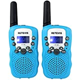 Retevis RT-388 Kids Walkie Talkies 22 Channel FRS Walkie Talkie for Children (Blue, 1 Pair)