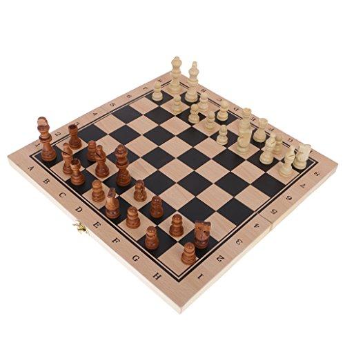 Fenteer おもちゃ バックギャモン 駒 チェス チェッカー 3種類遊び方 ボードゲーム 木製 知育 伝統的 ギフト