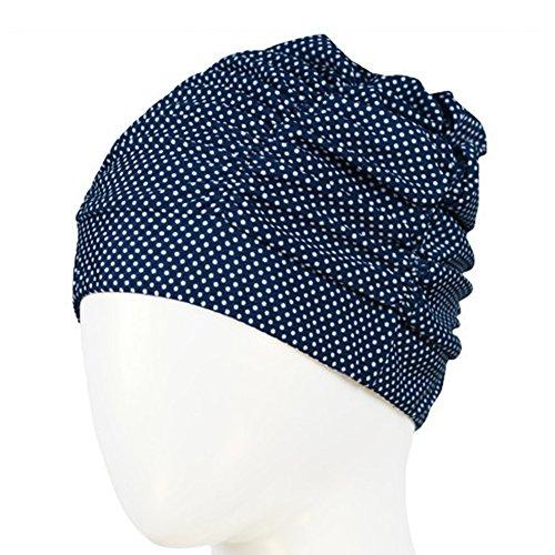 Merryshop@ Soft Drape Elastic Dot Swimming Cap Hat for ...