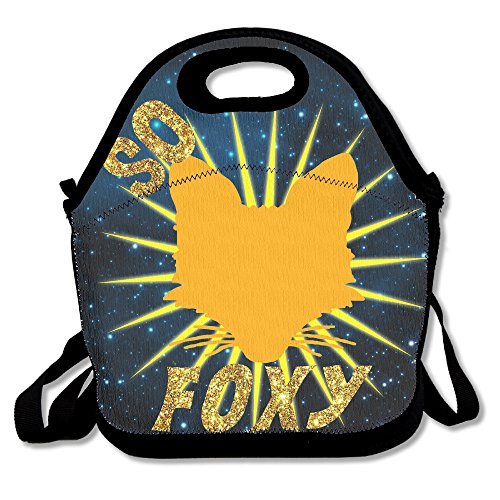 Foxy Leopard (So Foxy With Orange Fox Lunch Tote Insulated Reusable Picnic Lunch Bags Boxes For Men Women Adults Kids Toddler Nurses)