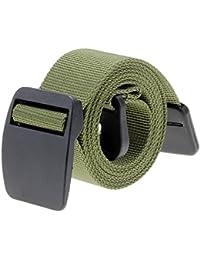 Ayliss Military Light Weight Cottn Nylon Belt Hypoallergenic Plastic Buckle