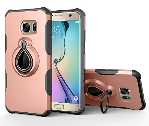 Samsung Galaxy S7 Edge Case, Cover, BasicStock, Protective Shock-Absorbing TPU Light Weight Durable Protector Case Skins Back case (Rose Gold CASE ()