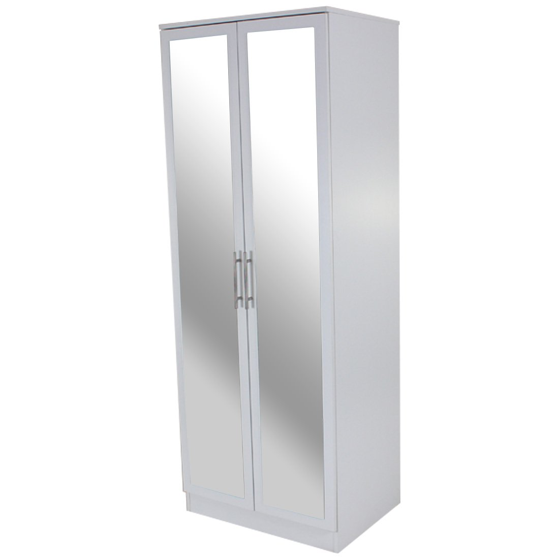 Devoted2Home Humber Bedroom Furniture with 1-Door Mirrored Corner Wardrobe, Wood, White, 64.7 x 64.7 x 180 cm AA510703HUM