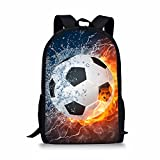 Coloranimal Cool Children School Backpack 3D Football Printing Bookbags for Boys