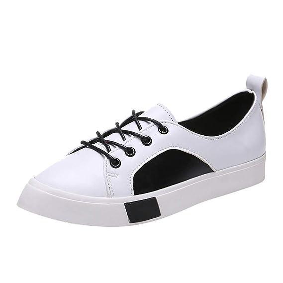 BBestseller Zapatillas de Running mujer Zapatos Deportivas Gimnasio Correr Deportes de Exterior y Interior Fitness puntiagudas Casual Sneakers de cordones: ...