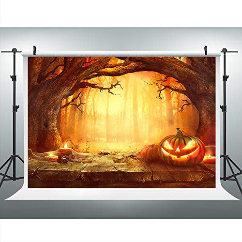 (Maijoeyy 7x5ft Halloween Pumpkin Photography Backdrop Scary Pumpkin Photo Backdrop Halloween Photography Prop)