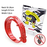 #6: 1Pc Red Plastic Silicone Dog Collars For Small Dog Flea Ticks Mosquitoes Elimination Flea Puppy Chihuahua Cat Collar As picture M