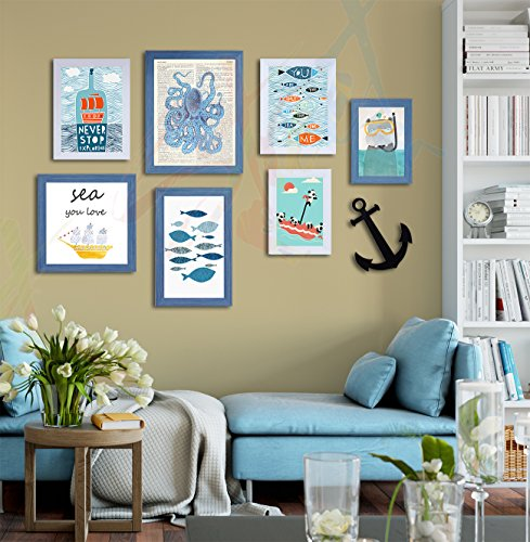 Painting Mantra Art Street Quotes Framed Wall Poster (Color :: Aqua,Style Name ::Never Stop Exploring,Item Shape ::Mixed…