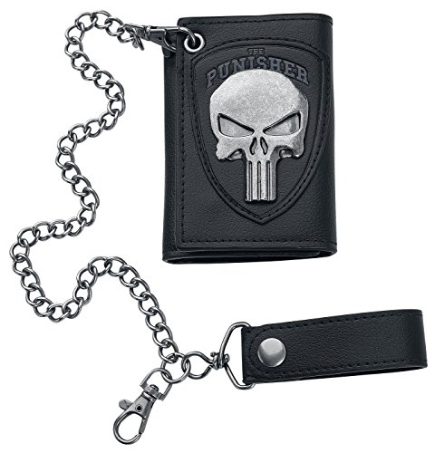 Marvel The Punisher Skull Logo Mens Biker Chain (Logo Leather Chain Wallet)