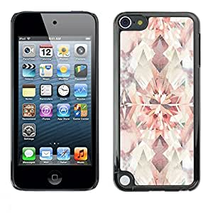 FECELL CITY // Duro Aluminio Pegatina PC Caso decorativo Funda Carcasa de Protección para Apple iPod Touch 5 // Diamond Floral Pattern Pastel Watercolor