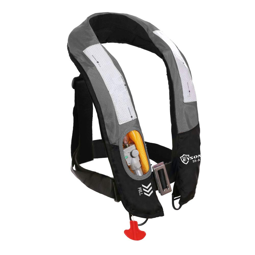 Eyson Inflatable Life Jacket Life Vest Highly Visible Automatic (Grey) by Eyson