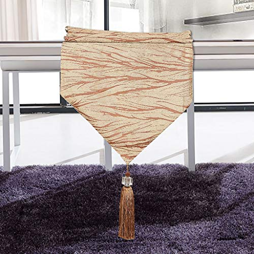 ZUOANCHEN Table Runners European Modern Classic & Timeless Cotton Blend Coffee Table Runner, Dining Table Runner, Or Kitchen Table Runner (Color : Coffee Color, Size : 33200cm)