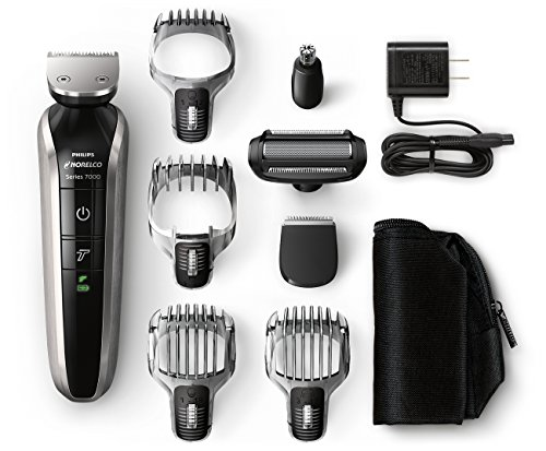 Philips Norelco Multigroom Series 7100, 8 attachments, QG3390 (Philips Norelco Beard Trimmer Series 7200 Vacuum Trimmer)
