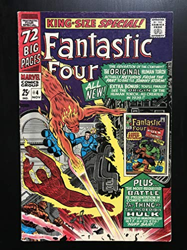 (Fantastic Four Annual #4 1967 King Size Marvel Comic Book Human Torch first Silver Age appearance)