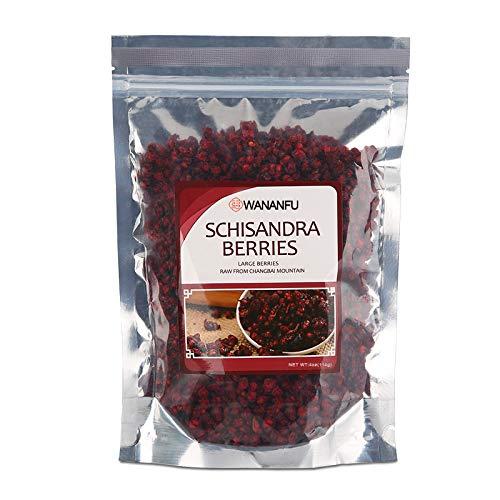 Schisandra Berry - Schisandra Berries Raw From Chinese Changbai Mountian Dried Loose Berry from 100% Nature (Wu Wei Zi) Whole Bulk Herbs tea 北五味子(북오미자)4oz