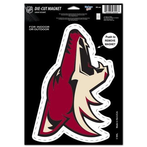 "WinCraft NHL Arizona Coyotes Die Cut Logo Magnet, 6.25"" x 9"""
