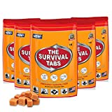 Survival Tabs - 10-Day Food Supply - Emergency Survival Food MRE for Outdoor Activities Gluten-Free, Non-GMO The Survival Tabs 25 Years Shelf Life (5 pouches x 24 tablets = 120Tablets/Butterscotch)