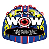 WOW World of Watersports 11-1080 Super Thriller Boat Tube Towable, Inflatable, 1 to 3 Riders