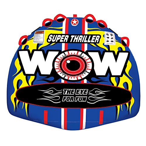Sport Boat - WOW World of Watersports 11-1080 Super Thriller Boat Tube Towable, Inflatable, 1 to 3 Riders