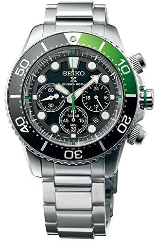 [セイコー] SEIKO SEIKO Prospex Sea Diver`s 200m Chronograph Solar Sports Watch Green ソーラー クォーツ SSC615P1 の商品画像