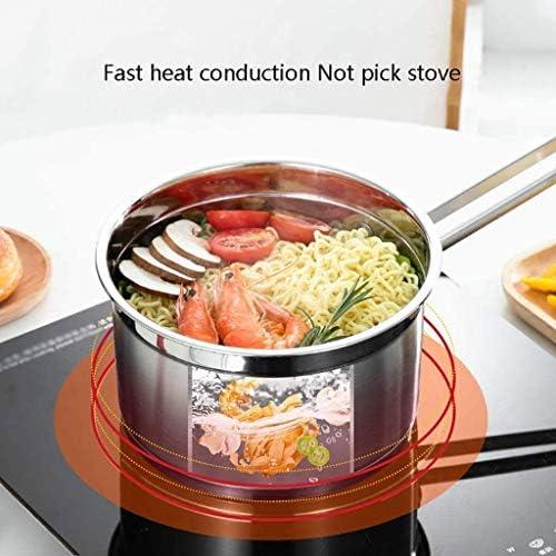 Hexiao Lait Pan, Casserole, Sauce en Acier Inoxydable avec Couvercle, Lait Pan for la Maison, Cuisine Restaurant de Cuisine, Easy Clean xiao1230