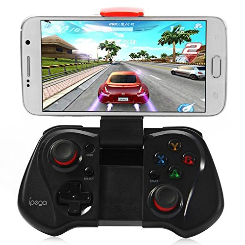 iPega PG-9023 Extendable Game Controller Portable Bluetooth Wireless Gamepad Joystick Control for Android Phone Samsung Galaxy S7/S7 edge S6 S5 iPad 5 4 etc (black)