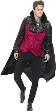 Smiffys Disfraz de Demonio Elegante, Rojo, con Chaleco, Camisa ...
