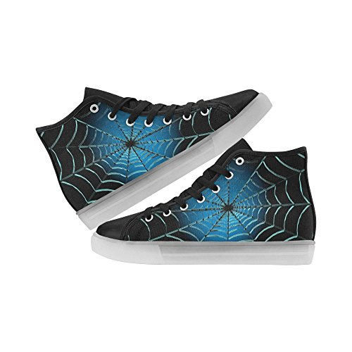 InterestPrint Skulls And Bones Light Up Womens Shoes Flashing Sneakers Spider Web uMPXf