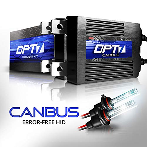 OPT7 Boltzen AC CANbus HID Kit - 5x Brighter - 6x Longer Life - All Bulb Sizes and Colors - 2 Yr Warranty - 9012 [5000K Bright White Xenon Light] (Best Hid Kit Brand)