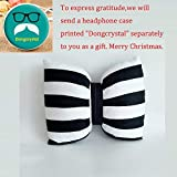 Dongcrystal Black and White Striped Bow Pillow Sofa Decorative Cushions-Bowknot Pillow
