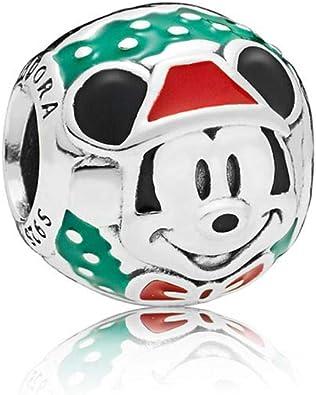 PANDORA Disney Santa Mickey 925 Sterling Silver Charm - 797502ENMX
