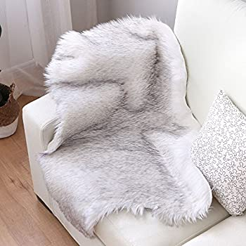 Nordmiex Faux Fur Sheepskin Rug   Deluxe Soft Faux Sheepskin Chair Cover, Seat  Cushion Pad
