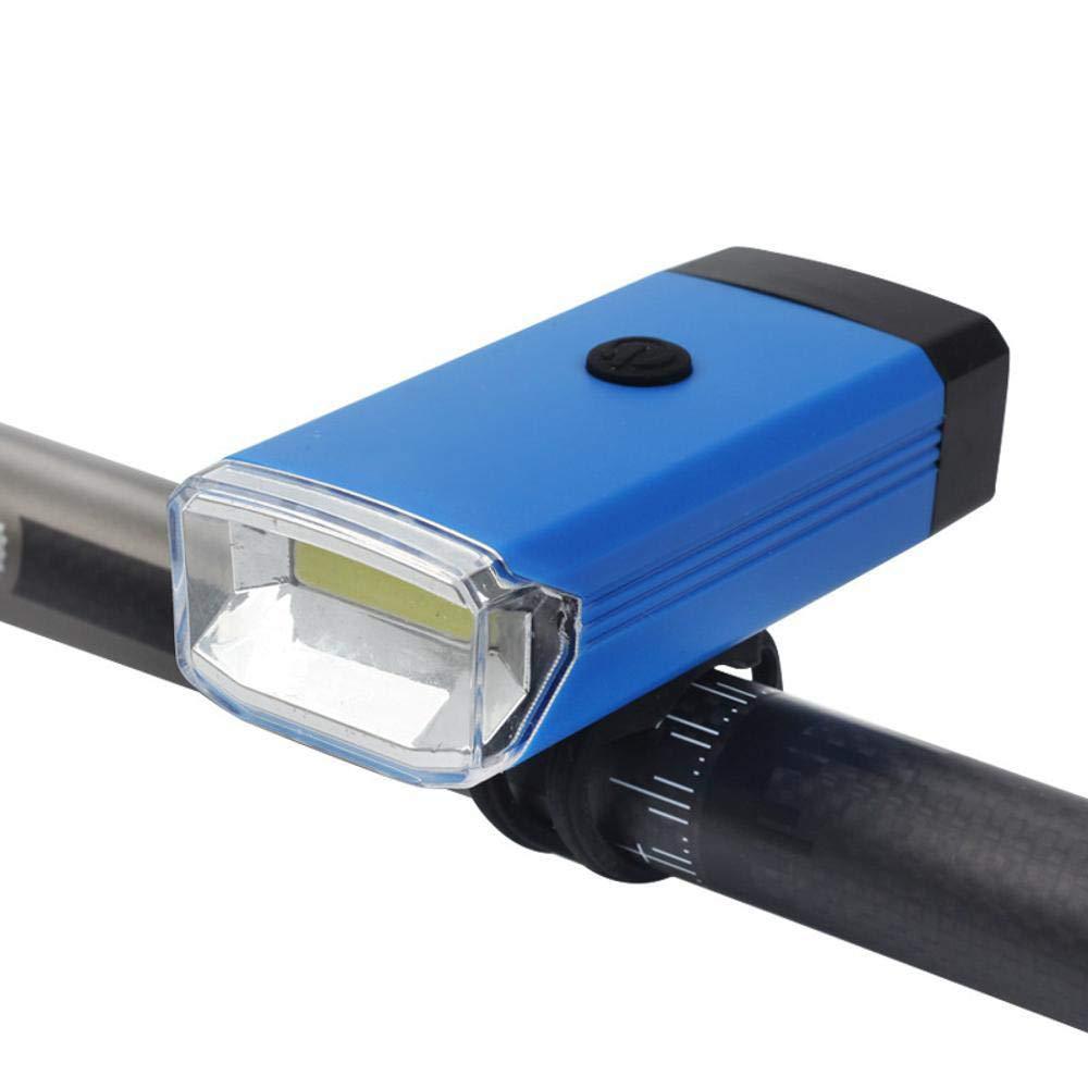 Daeou Luces de Bicicleta Montaña Coche Delantero COB luz Carretera Bicicleta Caballo Advertencia luz de la Noche Montar Accesorios 41 * 27 * 90 mm