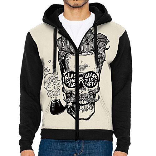 3D Printed Hoodie Sweatshirts,and Eyeglasses with Inscription,Hoodie Casual Pocket ()
