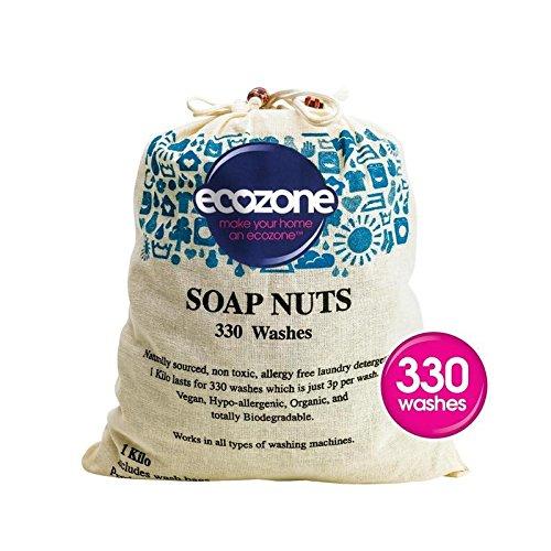 低刺激性&有機ソープナッツ1キロ (Ecozone) (x 6) - Ecozone Hypoallergenic & Organic Soap Nuts 1kg (Pack of 6) [並行輸入品] B01LYYHO27