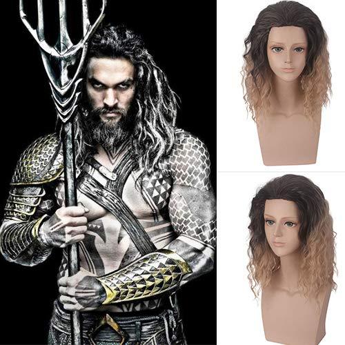 Amazon Com Ivy Hair Aquaman Cosplay Wavy Bob Black Blonde Wigs