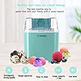 Costway Ice Cream Maker 1.6 Quart Automatic Macarons Color Ice Cream Machine, custard Frozen Yogurt Sorbet Gelato Machine with Auto Shut Off Timer, LCD Display and Mixing Paddle for Soft Serve Dessert (Green)