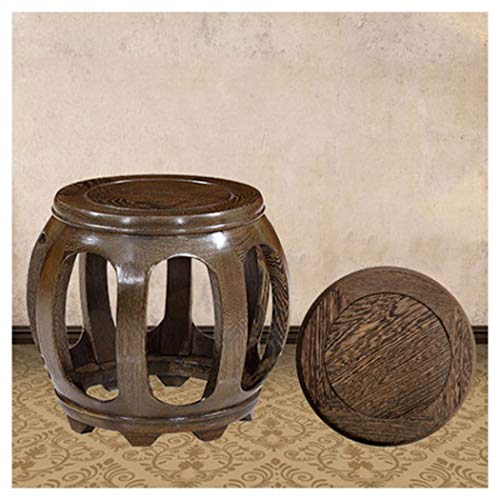 B.YDCM Wooden Bench- Round Stool Chinese Antique Drum Stool Solid Wood Stool Home Coffee Table Stool Low Stool Bench - Wood Bench (Size : - Chinese Table Furniture Round Antique