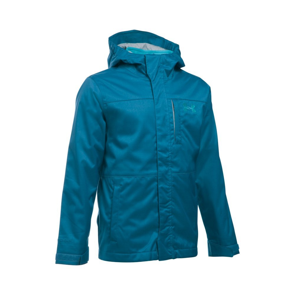 Under Armour Boys' Storm Wildwood 3-in-1 Jacket, Peacock/Pacific, Youth Small by Under Armour