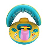 Inflatable Baby Pool Float Swimming Ring with Sun Canopy for the Age 6-36 Months with Storage Bag