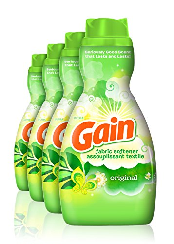 - Gain Liquid Fabric Softener, Original, 41 fl oz, 4 Count