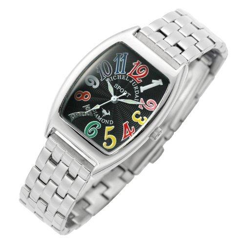 [Michel Jordan] michel Jurdain watch diamond 5P containing tonneau-shaped metal belt Women's Watches black x multi-color SL-1000A-2B Ladies by michel Jurdain (Michel Jordan)