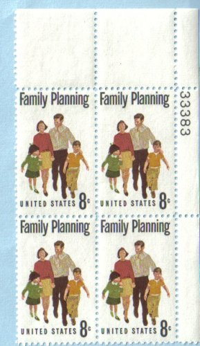 1972-family-planning-planned-parenthood-1455-plate-block-of-4-x-8-cents-us-postage-stamps